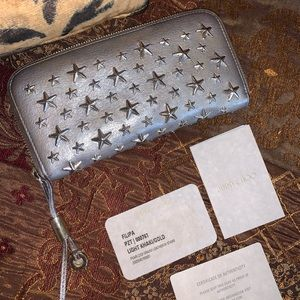 Authentic Jimmy Choo long leather wallet